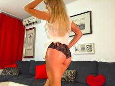 Hot blonde Femdom Goddess DominantMiss @CamContacts ass worship tease on cam