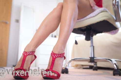 Beautiful Mistress hot legs tease